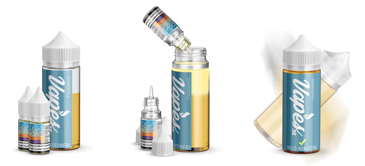 Hur du tillsätter nikotinshots i en shortfill