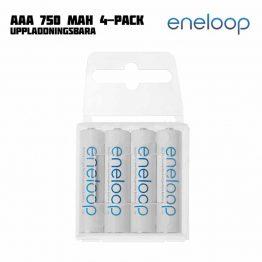 Eneloop AAA 750 mAh Uppladdningsbara 4-pack