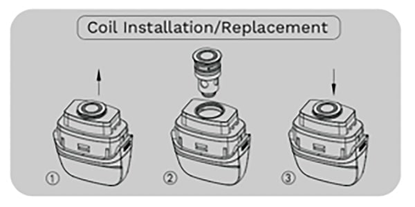 Install coil Vaporesso PM40 Kit